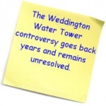 Weddington Watertower: Anywhere but Sen. Pittenger's property